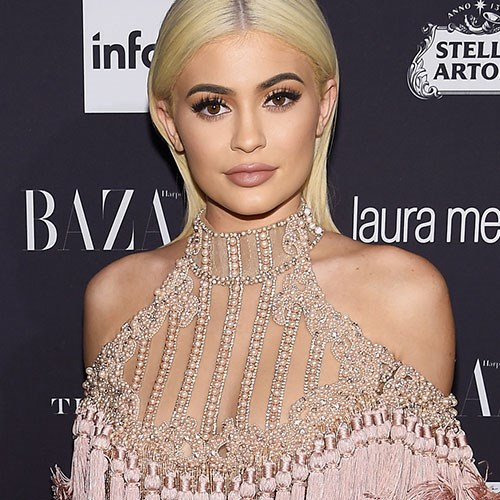 Again in 2016, Kylie stepped out with a sleek, peroxide blonde 'do.