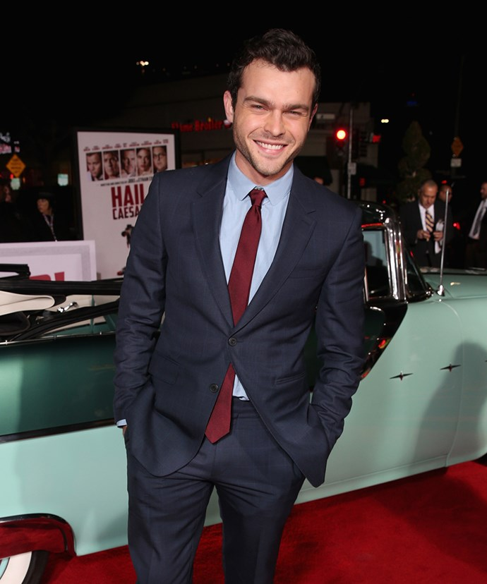 **Alden Ehrenreich** <br><br> Alden, 28, scored the role of a lifetime when he was cast as young Hans Solo in the upcoming *Solo: A Star Wars Story*. That comes out later this year, so expect his profile to reach for the stars (and just ignore the stories that said he needed acting lessons…). Prior to that, you may have seen Alden in *Hail, Caesar!*, *Blue Jasmine* or *Beautiful Creatures*.