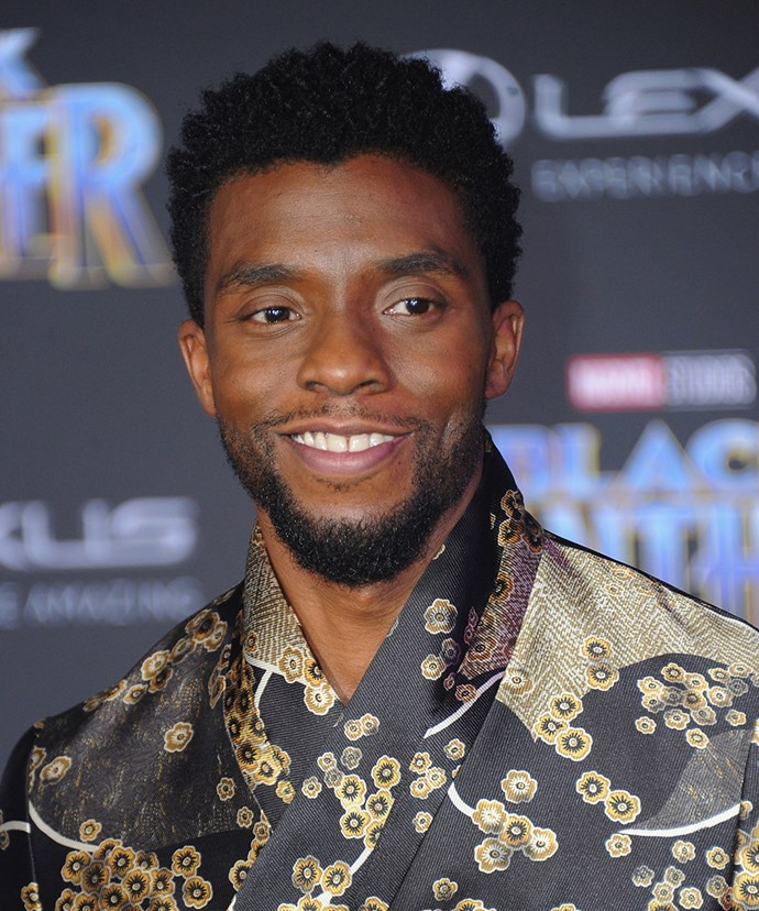 **Chadwick Boseman** <br><br> Speaking of *Black Panther*, Chadwick plays the main man himself, and at 40, he is really hitting his stride. Chadwick made his first appearance as T'Challa/Black Panther in 2016's *Captain America: Civil War*, but this time around, it's all about him. He'll also appear in the upcoming Marvel films *Avengers: Infinity War* and 2019's untitled Avengers movie.