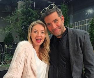 Kassandra Clementi and Craig Bierko filming UnREAL Season 3