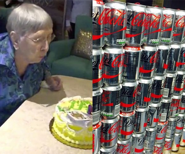 104 year old woman drinks Diet Coke every day
