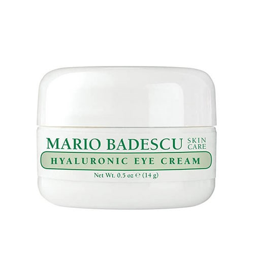 "**Mario Badescu Hyaluronic Eye Cream, $26 at [Mecca](https://www.mecca.com.au/mario-badescu/hyaluronic-eye-cream/I-027922.html?cgpath=skincare-eyecare#start=1|target=""_blank"").** <br><Br> **Why we love it:** Mario Badescu Hyaluronic Eye Cream is an entry level eye cream for sensitive skinned girls. The hyaluronic acid will plump and hydrate your skin, while aloe vera has a soothing effect."