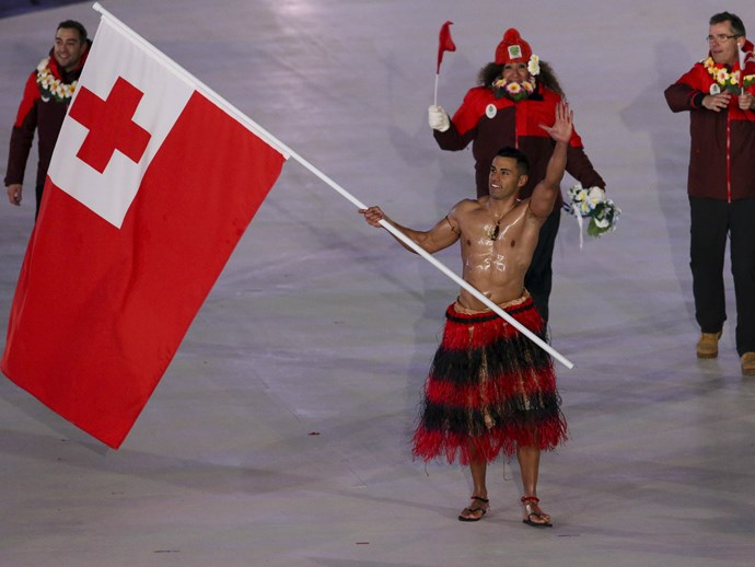 Indeed, the Sexy Tongan Flagbearer Just Walked the Opening Ceremony Shirtless and Oiled Up Again