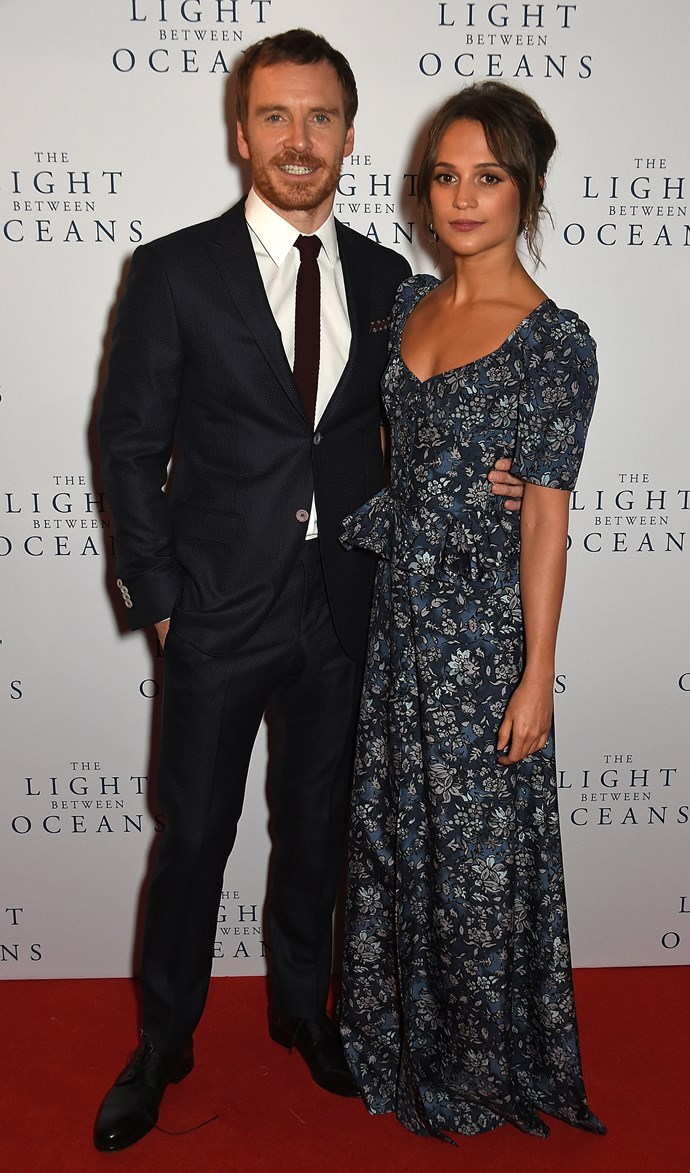 Michael Fassbender and wife, Alicia Vikander.