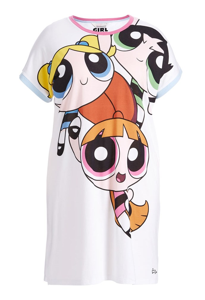 "Powerpuff Girls Sleep Tee, $80 at [Peter Alexander](https://www.peteralexander.com.au/shop/en/peteralexander/powerpuff-girls-sleep-tee?cm_vc=PDPFP1|target=""_blank""