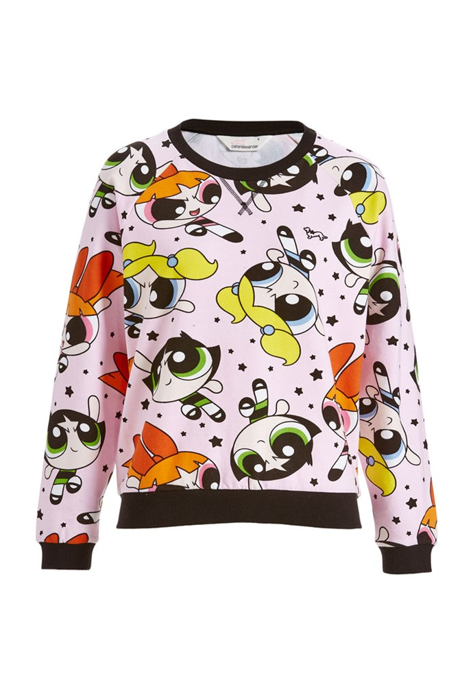 "Powerpuff Girls Sweater, $80 at [Peter Alexander](https://www.peteralexander.com.au/shop/en/peteralexander/powerpuff-girls-sweater?cm_vc=PDPFP1|target=""_blank""