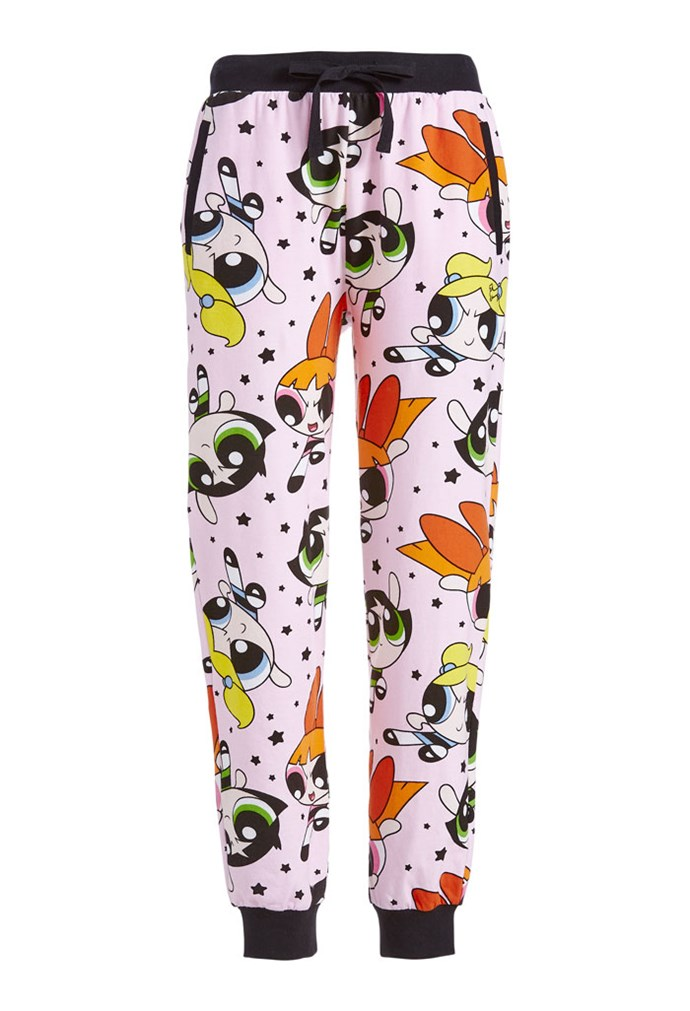 "Powerpuff Girls Lounge Pant, $80 at [Peter Alexander](https://www.peteralexander.com.au/shop/en/peteralexander/powerpuff-girls-lounge-pant?cm_vc=PDPFP1|target=""_blank""