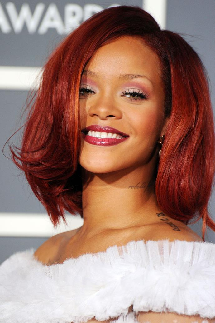 As 2011 came around, Rihanna clung onto her red locks for just a little longer.