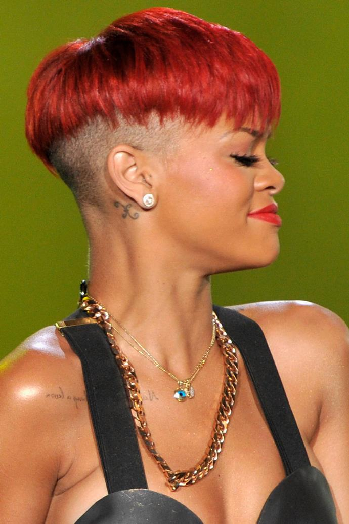 2010 was the year of RiRi's red hair