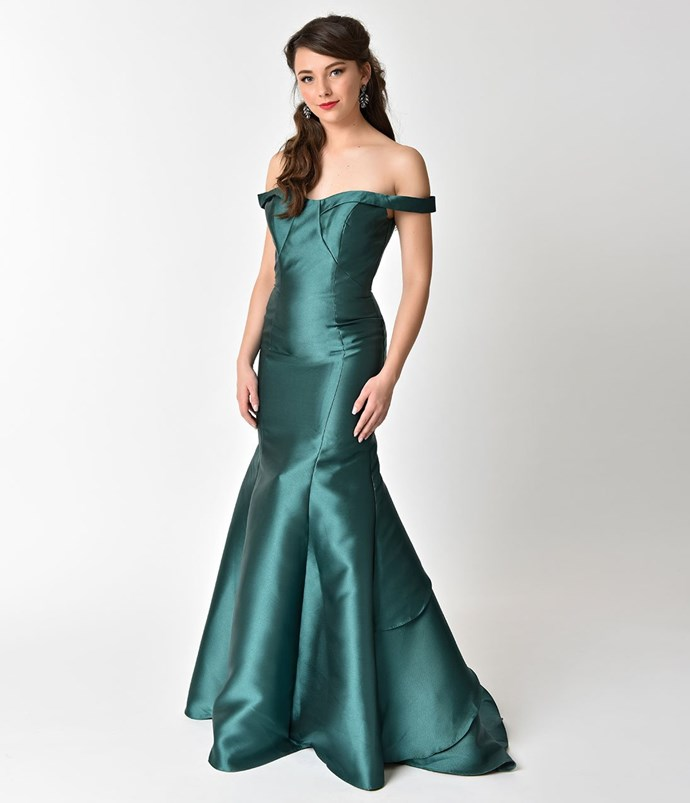 """**Ariel** <br><br> Dress, $214 (approx.) at [Unique Vintage](http://fave.co/2EYNIEE