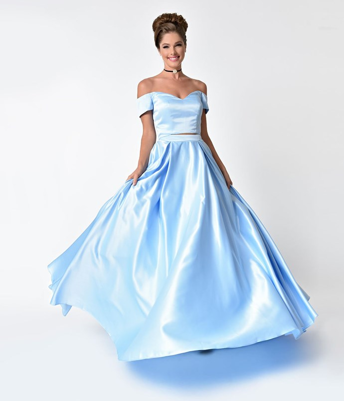 """**Cinderella** <br><br> Dress, $180 (approx). at [Unique Vintage](http://fave.co/2EX7sbF