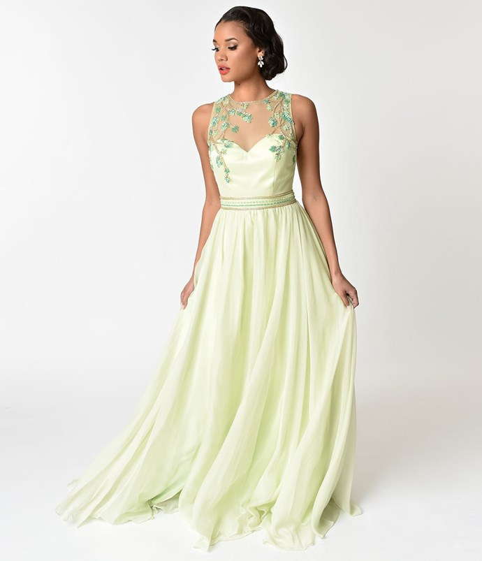 """**Tiana** <br><br> Dress, $214 (approx.) at [Unique Vintage](http://fave.co/2sKOPD9