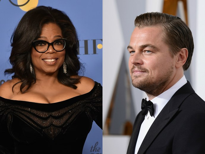 Oprah is so famous she can get away with not recognising Leonardo DiCaprio at a party