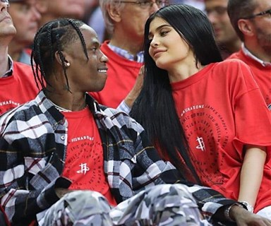 Kylie Jenner and Travis Scott make first public appearance together since becoming parents