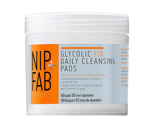 "[**Nip+Fab Glycolic Fix Daily Cleansing Pads**](https://www.priceline.com.au/nip-fab-glycolic-fix-daily-cleansing-pads-60-pack|target=""_blank""