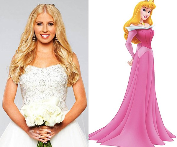 **Ashley and Aurora** - Ashley gets compared to Barbie a lot on MAFS but we're seeing a lot more Sleeping Beauty than plastic doll.