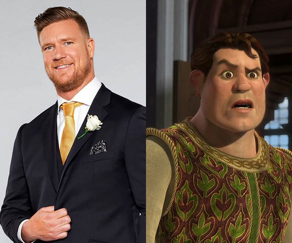 **Dean and Human Shrek** - In the nicest possible way! They're both big dudes.