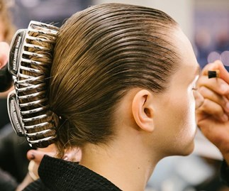 Claw clips made a comeback on the runway at New York Fashion Week