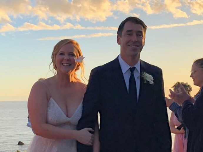 Amy Schumer actually included a commitment to oral sex in her wedding vows