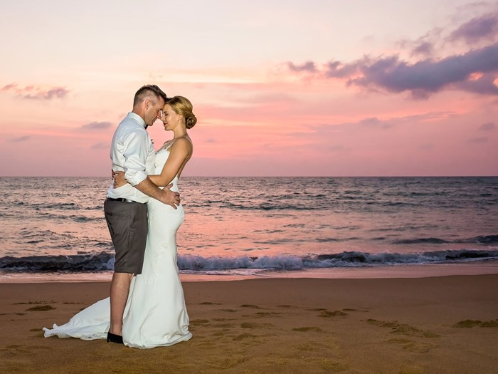 A destination beach wedding in Thailand