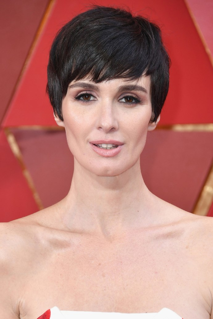 **Paz Vega** <br><br> The Spanish actress wowed with her onyx black pixie 'do, bold brows and pink smoky eye complete with a wing.