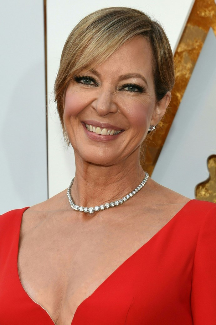 **Allison Janney** <br><br> The *I, Tonya* actress looks stunning as ever with warm flushed cheeks, full lashes and a dark, smoky eye.