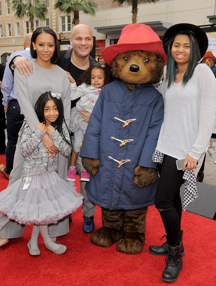 Seemingly happier times; Mel B, Stephen Belafonte with children Phoenix, Angel and Madison at the Los Angeles premiere of 'Paddington' in 2015.