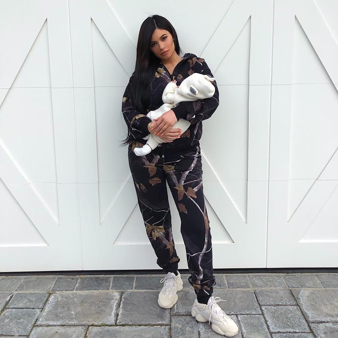 Kylie also uploaded a sneaky full length shot.