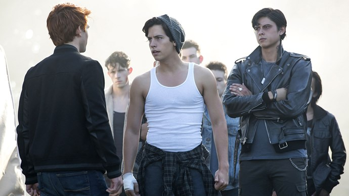 Jughead's muscles bulging through this singlet is something we can totally get behind.