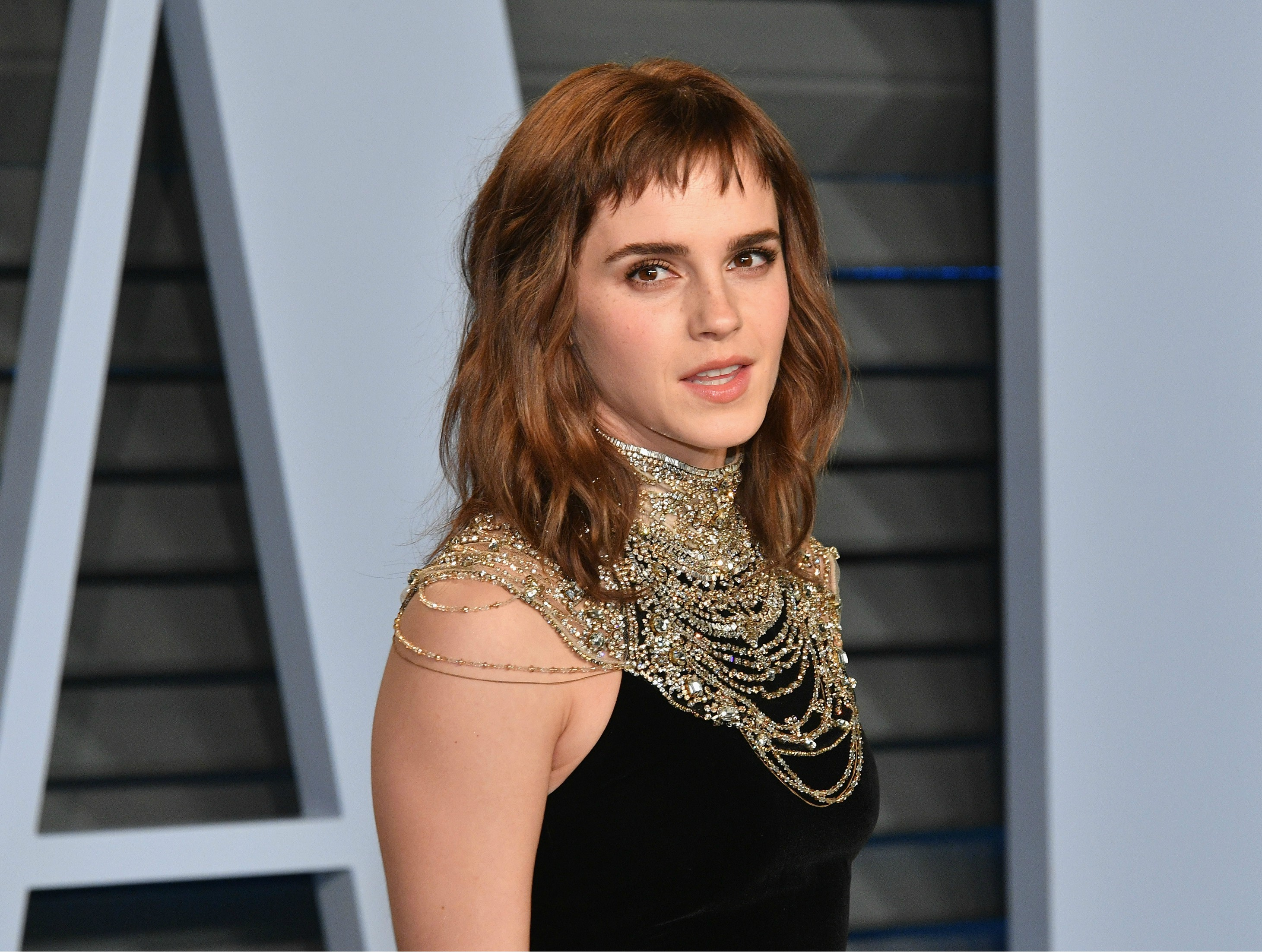 Emma Watson Had A Giant Time's Up Tattoo At The Oscars Afterparty