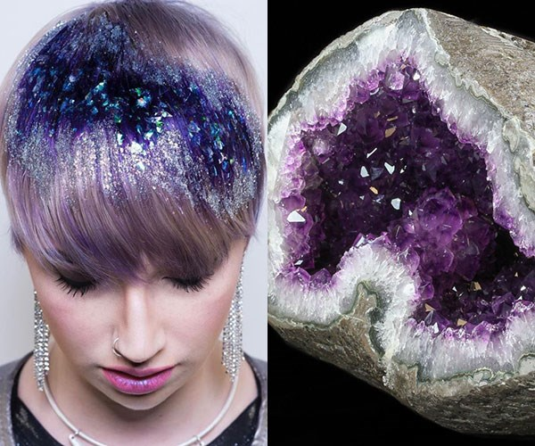Image result for 'CRYSTAL HAIR' IS THE LATEST COLOUR TREND TO CATCH THE INTERNET'S ATTENTION