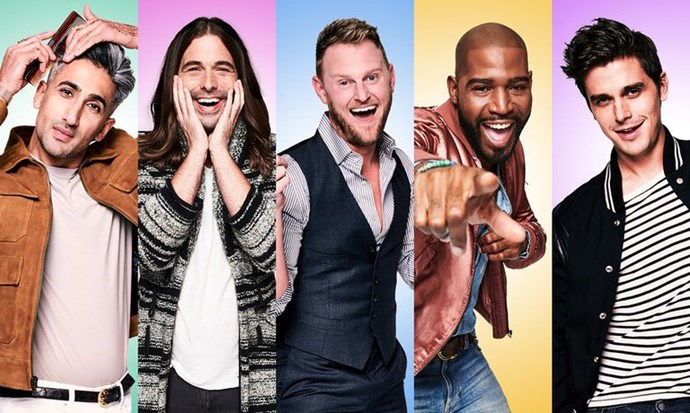 **Queer Eye** <br><br> The all new 'fab-five' advise men on fashion, grooming, food, culture and design in this modern reboot of the Emmy Award-winning reality series. Ready to make America fabulous again one makeover at a time, this show shines a spotlight on the LGBTQI community in a fun and positive way.