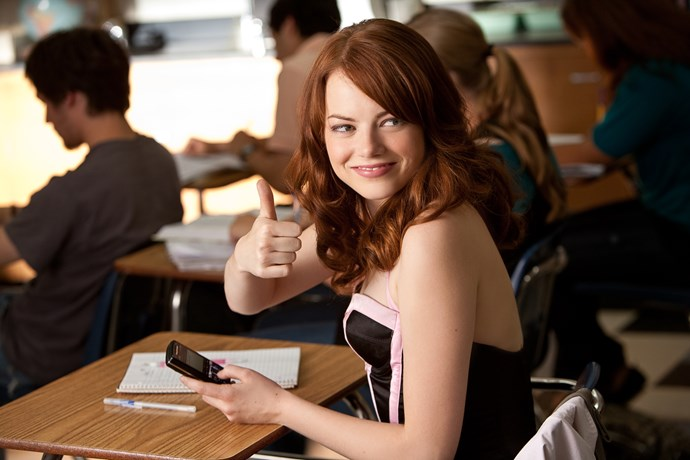 **Easy A**  <br><br> Who doesn't love a smart, sassy, empowering as fuck female lead?! Well, Emma Stone nails that brief like an absolute champ in *Easy A*. The film tackles slut-shaming and bullying head on with wit, intelligence and a hectic spoonful of sex appeal. We live for this movie, and it's our go-to when we want to feel incredible about being a chick.