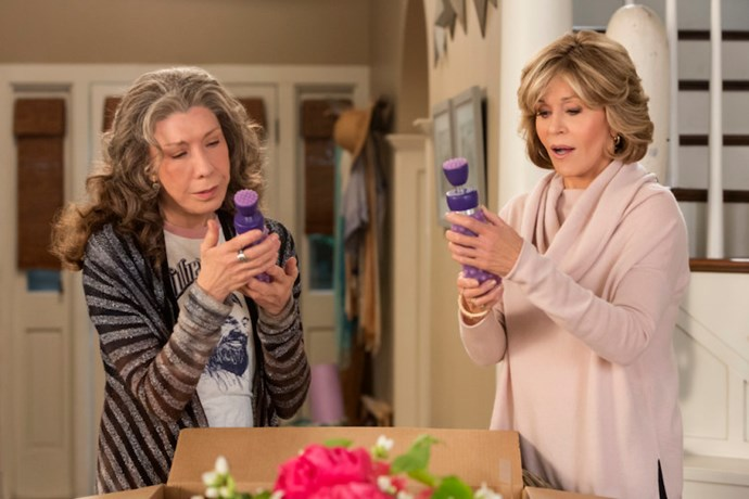 **Grace and Frankie**  <br><br> Jane Fonda and Lily Tomlin are the unlikely pair who form a bond that allows them to explore dating, entrepreneurship, and the power of female friendship. They move into a house together after their husbands leave them for each other, making for a hilariously heartbreaking foundation with a lot of laughs along the way.