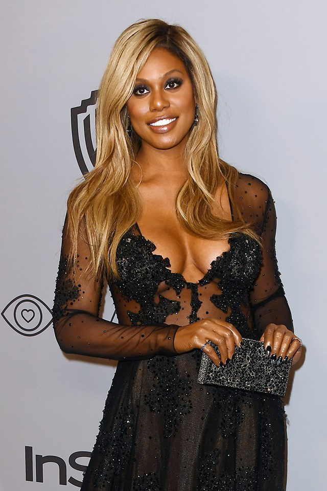"""**Laverne Cox** <br><br> In March 2018, Laverne Cox revealed in an [interview on *Access*](https://www.youtube.com/watch?time_continue=110&v=Fw87xJRghPE