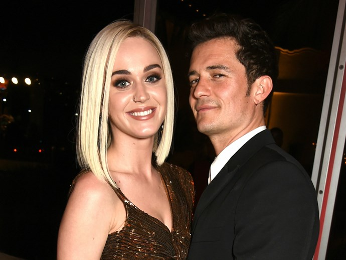 """Katy Perry just wore a onesie with """"ex""""-boyfriend Orlando Bloom's face all over it"""