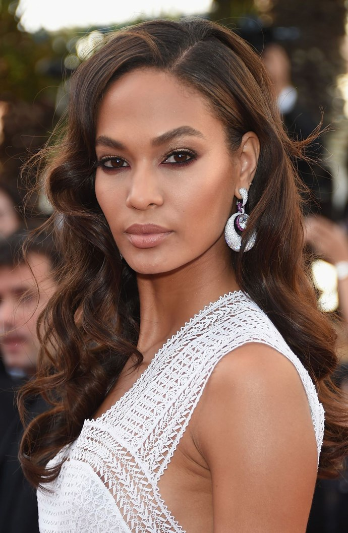 **Rock-chic bride** <br><br> Who says bridal makeup has to be paired back? Joan Smalls' makes a case for the smoky 'under-eye' by shading her lower lashline with a cocoa shadow and her lids with a hint of sparkle.