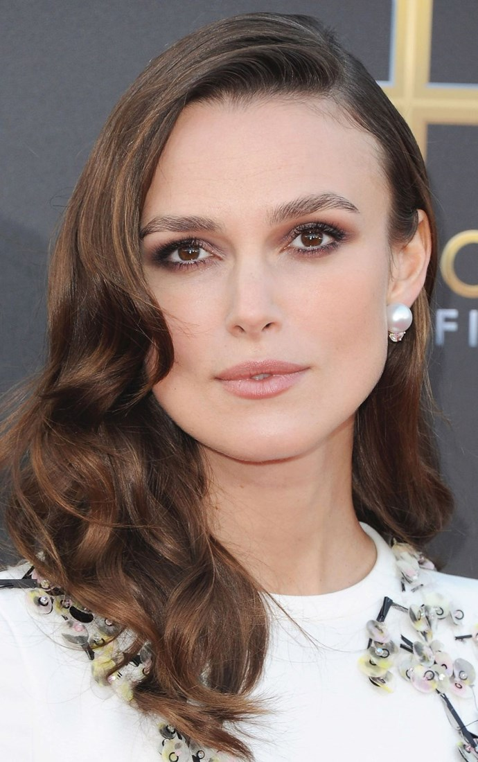 **Mocha smoke** <br><br> Polished brows and matte-brown smoky eyes will be a winner for your wedding day. Take a cue from Keira Knightley and team the look with sculpted curls.