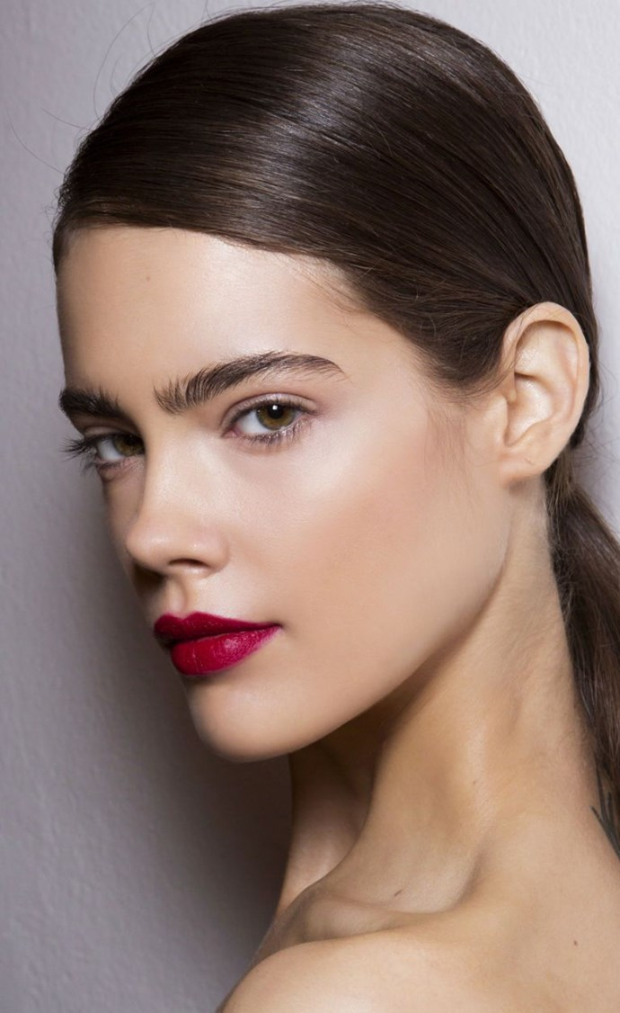 **Cherry lips** <br><br> A red lip is a classic look for a reason, use a lip pencil to carve out a flawless lip line and then fill in the remainder of your pout with a matte lipstick.