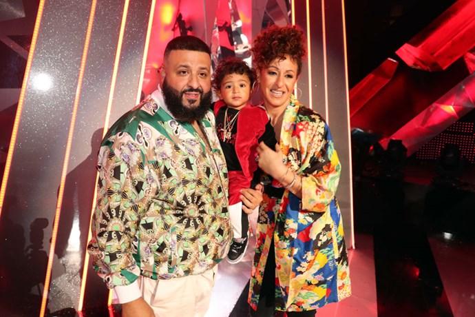 DJ Khaled, Asahd Tuck Khaled, and Nicole Tuck
