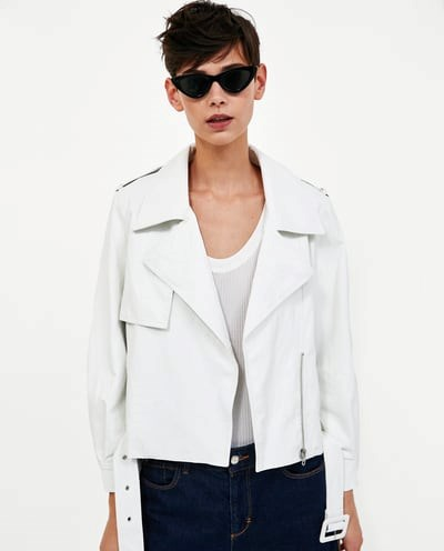 """Lightweight Faux Leather Jacket, $99 from [Zara Australia](https://www.zara.com/au/en/lightweight-faux-leather-jacket-p05071022.html?v1=6009022&v2=1010574 target=""""_blank""""). (Now only available in a handful of sizes.)"""