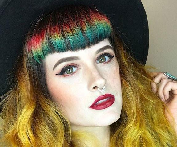 Rainbow Bangs Instagram Caitlin Ford