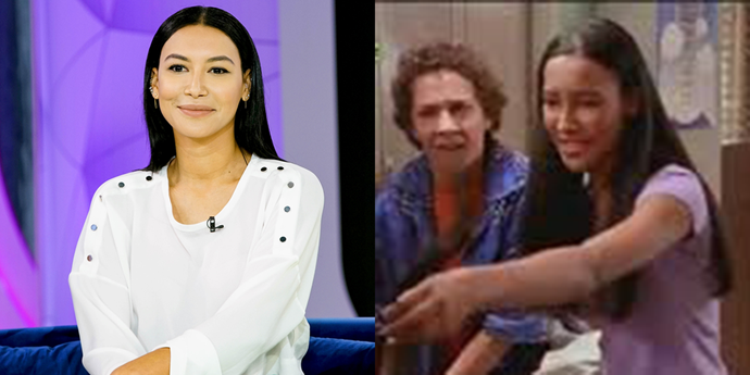 **Naya Rivera** <br><br> Before stealing the show as Santana Lopez on *Glee*, Naya Rivera starred on two episodes of *Smart Guy* (as different characters) and on one episode of the Shia LaBeouf classic *Even Stevens*. She's pictured here beating the crap out of Louis because she thought he put gum in her hair.