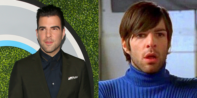 **Zachary Quinto** <br><br> Last but not least, Zachary Quinto starred in one episode of *Lizzie McGuire* as the unnamed director of a commercial that was supposed to star Matt and Sam. Between that turtleneck and that hairdo, he really had the snooty auteur look down.