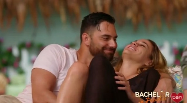 **Eden Schwencke and Nina Rolleston** <br><br> The promo shows them enjoying a cuddle, which is more than they got on their respective seasons of *The Bachelorette* and *The Bachelor*.