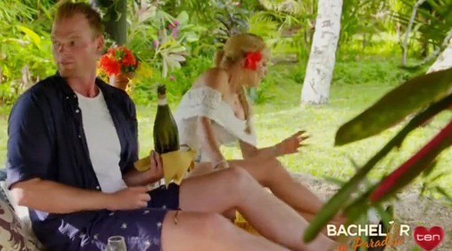 **Jarrod Woodgate and Ali Oetjen** <br><br> From the promos, we can see that Jarrod is clearly taken by Ali because she's a hottie who resembles Sophie Monk. They definitely go on a date that involves a bottle of champagne.