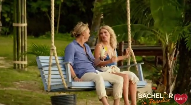 **Keira Maguire and Sam Cochrane** <br><br> The promo shows Keira and Sam sitting on a swing together, holding cocktails, which could obviously be a platonic friend hang. But it could also be more.