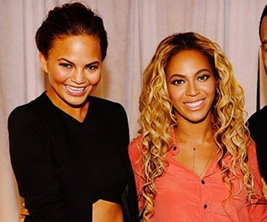 Someone bit Beyoncé's face at a party and Chrissy Teigen thinks she knows who it is