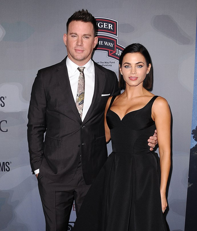 Channing and Jenna at the premiere of *War Dog: A Soldier's Best Friend* in November 2017