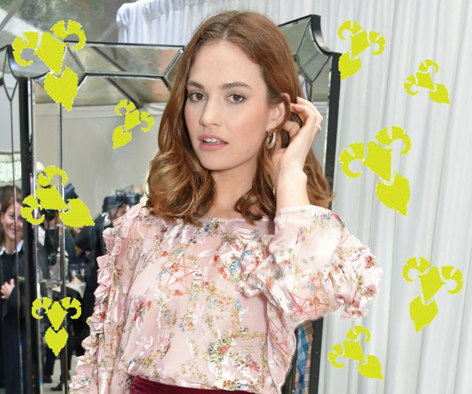 lily james birthday star sign